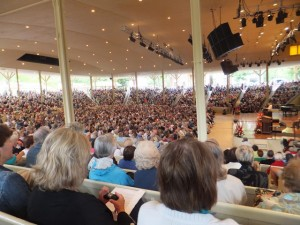 Full house in the Amphitheater!